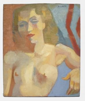 André LHOTE (1885-1962) - Cubist female bust, Oil on canvas