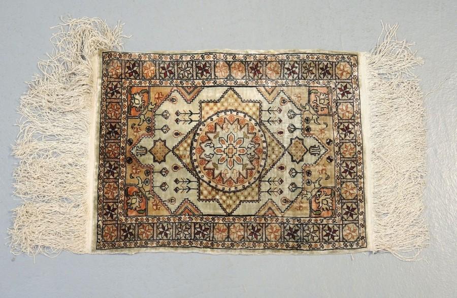 Tapis Hereke En Soie Art Islamique Orientaliste