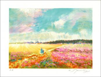 Claude MANOUKIAN - The fields, signed and numbered lithograph 2