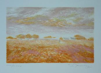 Claude MANOUKIAN - In the fields, original lithograph 2
