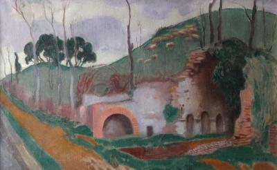 Maurice DENIS (1870-1943) - Roman source (Egeria Nympheum), Oil on canvas