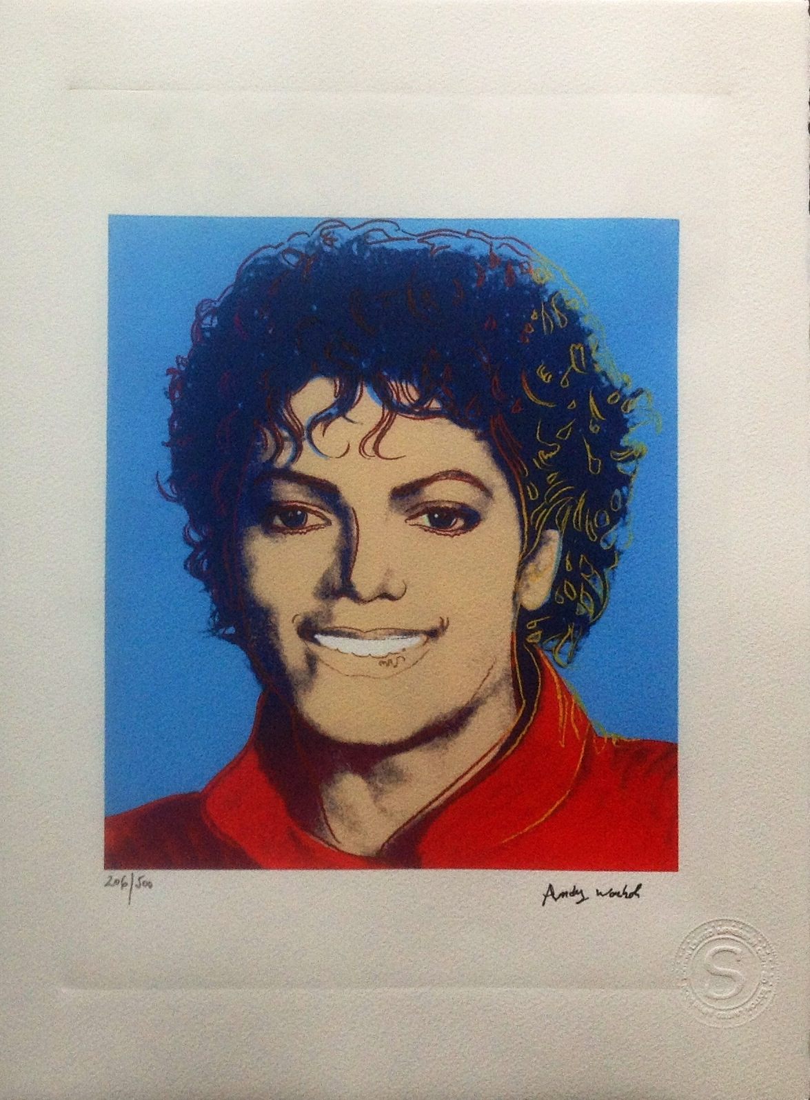 Andy Warhol Prix De Vente after) andy warhol - michael jackson, signed and numbered
