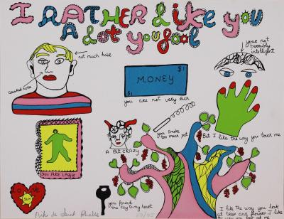 Niki De Saint Phalle, I rather like you a lot you fool, 1970, lithographie signée 2
