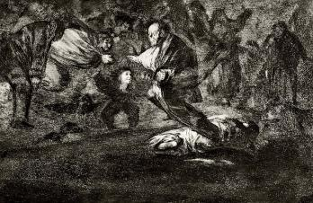 Francisco de GOYA - Disparate funeral, Etching, Aquatint