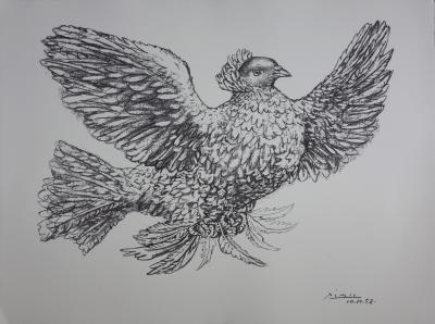 Pablo PICASSO (after) - The dove bearing the olive branch of peace, signed lithograph