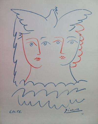 Pablo PICASSO (after) - Dove from the Concord, signed lithograph