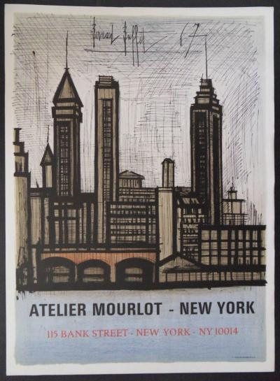 Bernard BUFFET - New-York, 1967, Affiche lithographique