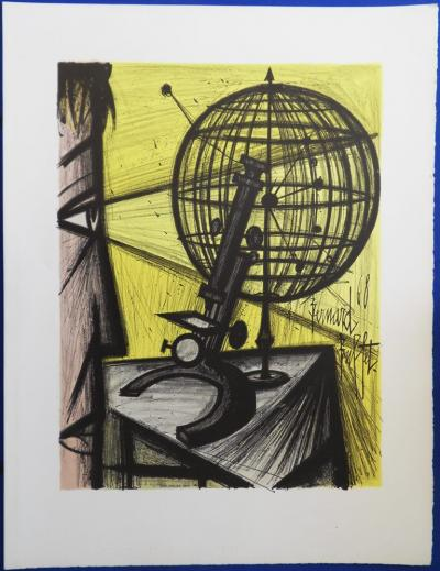 Bernard BUFFET - Lithographie : La Science / Le Microscope 1