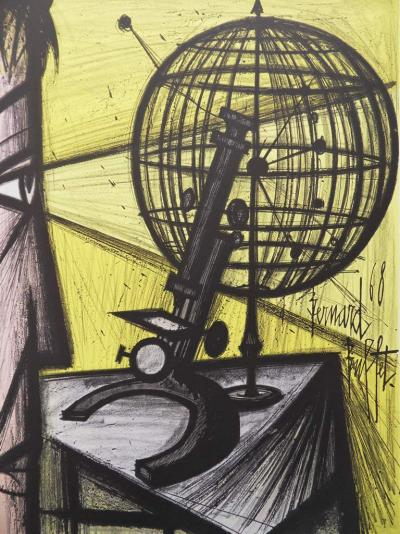 Bernard BUFFET - Lithographie : La Science / Le Microscope 2