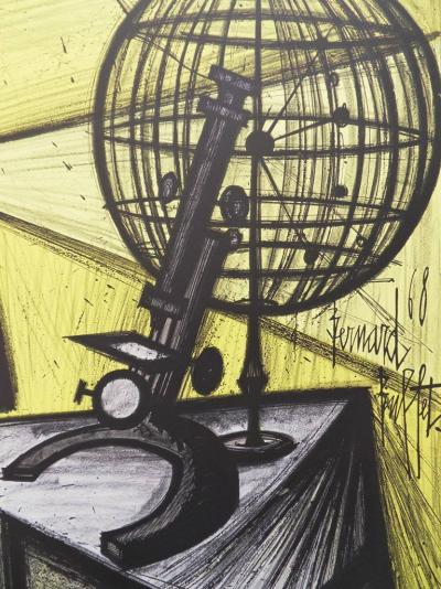 Bernard BUFFET - Lithographie : La Science / Le Microscope 3