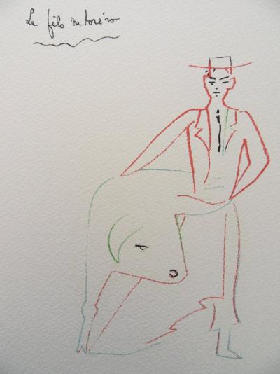 Jean COCTEAU - The son of the Torero, 1961, lithograph