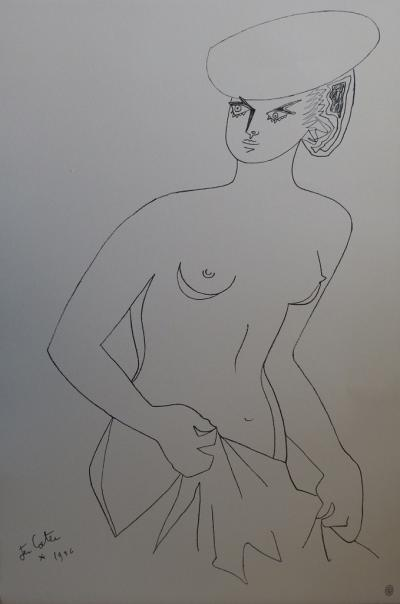 Jean COCTEAU - Actrice, Lithographie