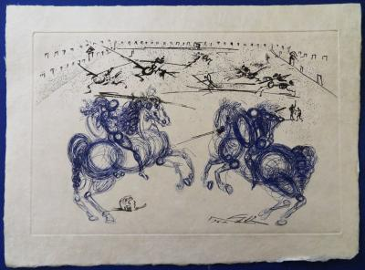 Salvador DALI - The Blue Horsemen, signed etching