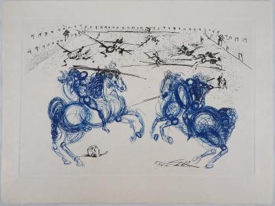 Salvador Dali - The Blue Rders, signed etching