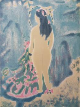 Jules CAVAILLES - The Bather, original signed lithograph 2