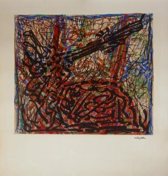 RRIOPELLE Jean-Paul - Lithographie : Composition abstraite 1