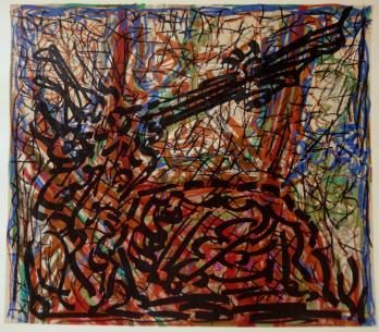 RRIOPELLE Jean-Paul - Lithographie : Composition abstraite 3