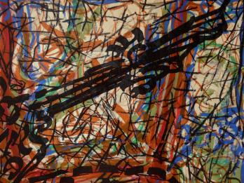 RRIOPELLE Jean-Paul - Lithographie : Composition abstraite 4