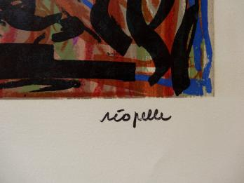RRIOPELLE Jean-Paul - Lithographie : Composition abstraite 6
