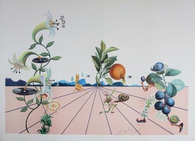 Salvador DALI - Flordali, 1981, signed lithograph