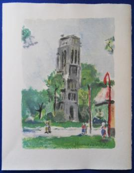 Maurice UTRILLO - La Tour Saint Jacques, Lithographie originale 2