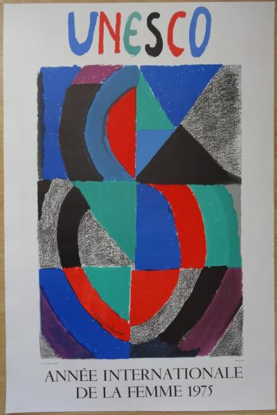 Sonia DELAUNAY - UNESCO - International year of the woman, original lithograph