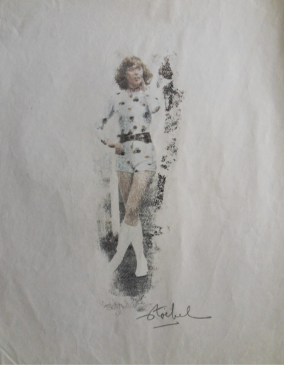 Edgar STOEBEL - Pin-Up / Mode, LOT de 2 Monotypes signés 2