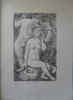 Maurice SAVIN - Les baigneuses, Lithographie originale 2