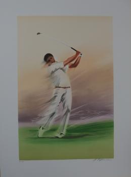 Maurice FILLONNEAU - Golf : Timing, Lithographie 2