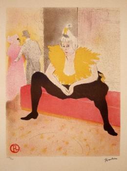 2ea9e11d3a1 Henri TOULOUSE-LAUTREC (after) lithographie elles 1