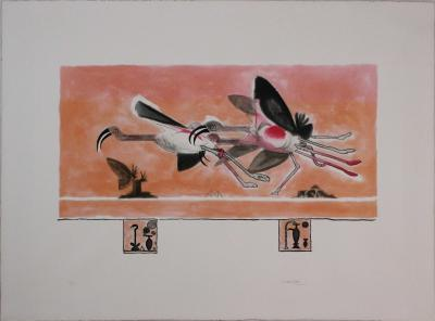 Graham SUTHERLAND, Ibis, 1978, Signed etching aquatint