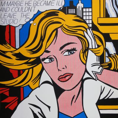 Roy LICHTENSTEIN (1923-1997) d'après - M-Maybe, Silkscreen