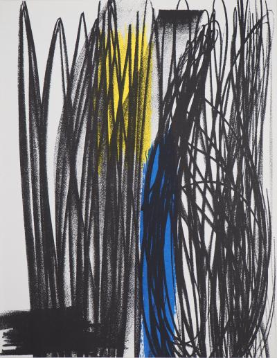 Hans HARTUNG : Influence, 1973, Lithographie originale