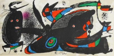 Joan MIRO - Lot of 7 originals lithographs on Guarro paper by Joan Miro, Miro sculpteur, 1974-75, plate signed