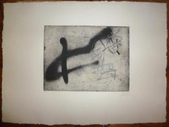 Antoni TAPIES - Untitled, original signed engraving