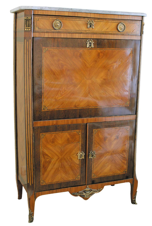 secr taire poque transition en placage de bois de rose antique furniture decorative arts. Black Bedroom Furniture Sets. Home Design Ideas