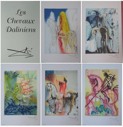Salvador DALI (1904-1969) - The dalinian horses, 1983, Complete series of 18 lithographs