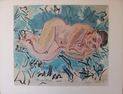 Raoul DUFY (1877-1953) - Reclining nude, Lithograph 2