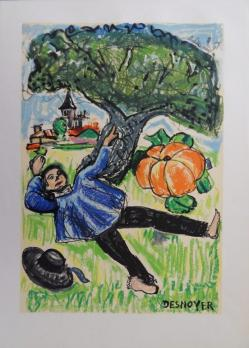 François DESNOYER - The Acorn and Pumpkin - Lithograph signed in the plate - 1961 2