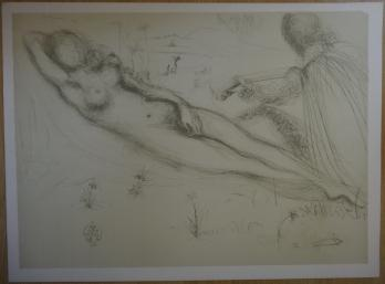 Salvador DALI (after) - The poet and the nude, Lithograph