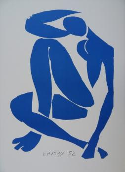 Henri MATISSE (1869-1964)  - Blue nude sitting, Lithograph