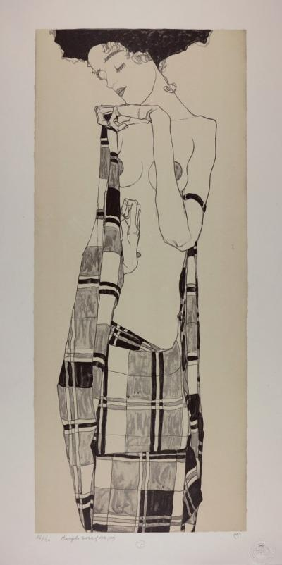 Egon SCHIELE - Portrait of Gerti Schiele, 1909, Handsigned & numbered lithograph 2