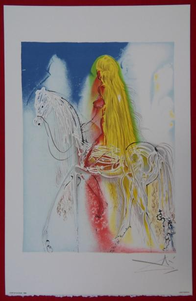 Salvador DALI - Lady Godiva, original signed lithograph