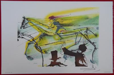 Salvador DALI - The racehorse, original signed lithograph