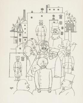 George GROSZ - He mocked Hindenburg, Lithograph 2