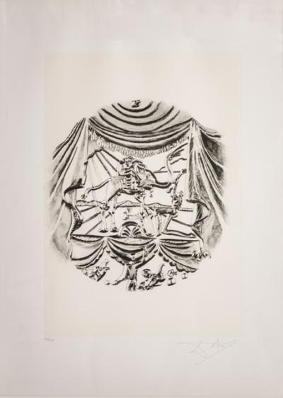 Salvador DALI, The Acting, from the series The Arts, Lito-screen printing, 70x50 cm 1