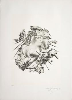 Salvador DALI, The Sculpture, from the series The Arts, Lito-screen printing, 70x50 cm 1