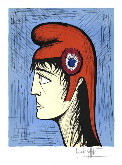 Bernard BUFFET - The French Revolution: Marianne Circa 1989 - 76x56cm