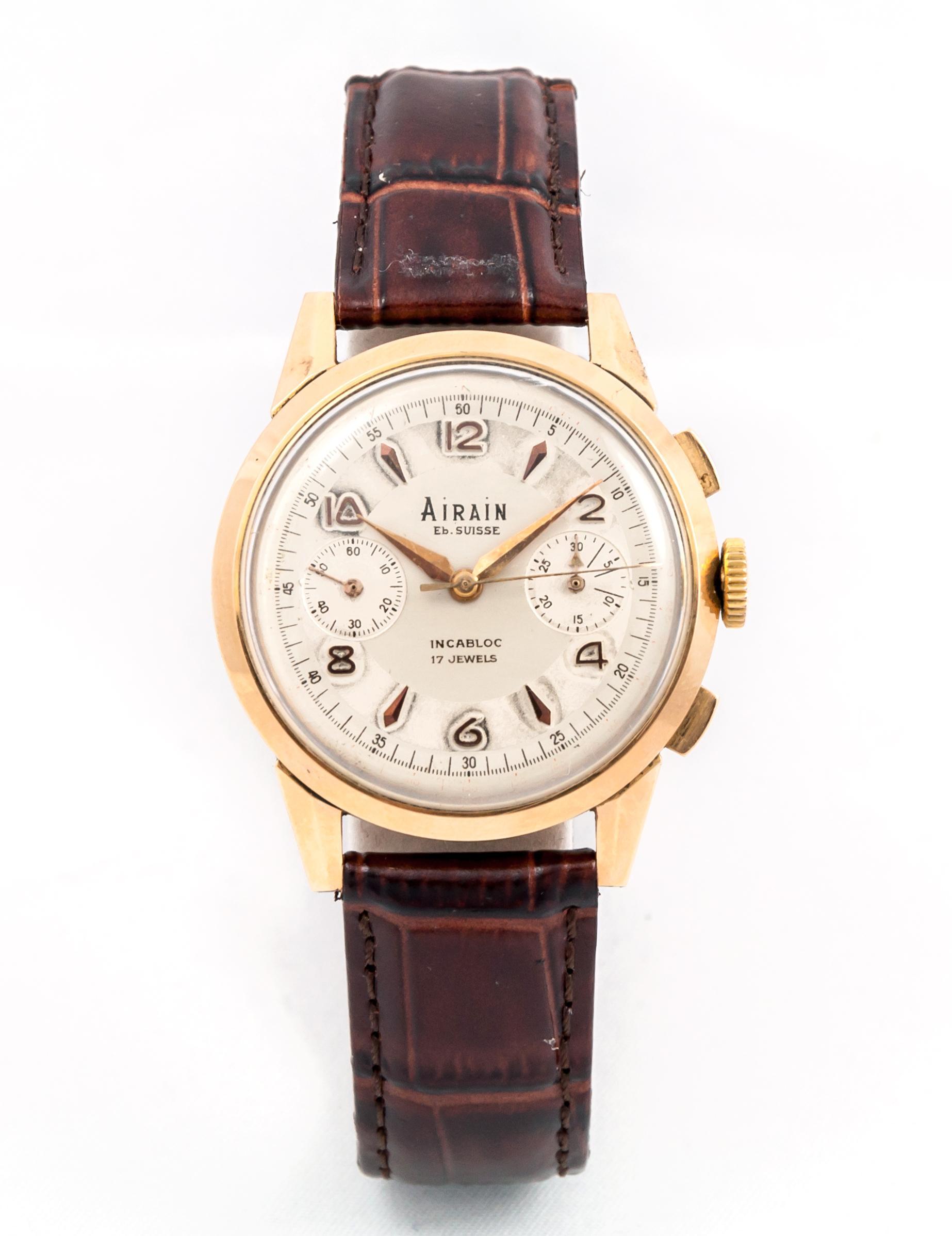En Et Chronomètre Montre Or 18kC1960 Bijoux Rose Airain Pn0wOk