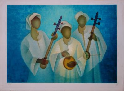 Louis TOFFOLI (1907-1999) - The Nile Trio, original signed lithograph